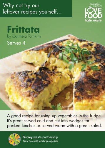 Veg Frittata - Love Food Surrey