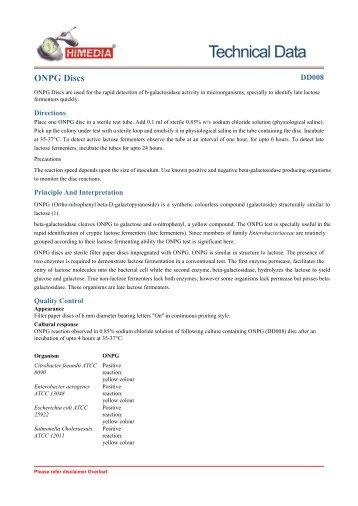 ONPG Discs - HiMedia Laboratories