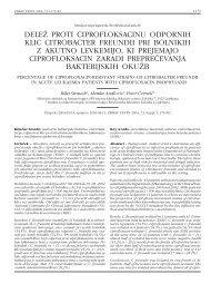 delež proti ciprofloksacinu odpornih klic citrobacter freundii pri ...
