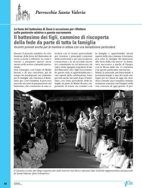 Gennaio - Parrocchia San Giovanni Bosco - Ceredo