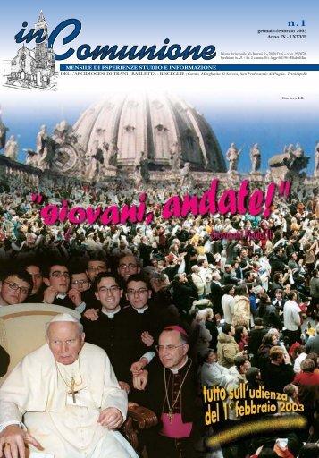 n. 1 gennaio/febbraio 2003 - inComunione
