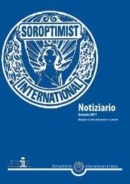 NOTIZIARIO SI/I - Gennaio 2011 - Soroptimist International Italia
