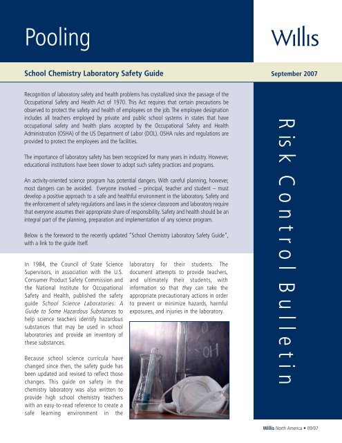 School Chemistry Laboratory Safety Guide Willis