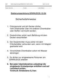 Bedienungsanleitung - Werner Dosiertechnik