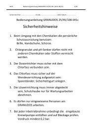 Bedienungsanleitung - WDT Werner Dosiertechnik