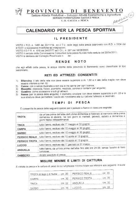 Benevento Calendario.Calendario Pesca Sportiva Provincia Di Fipsas Benevento