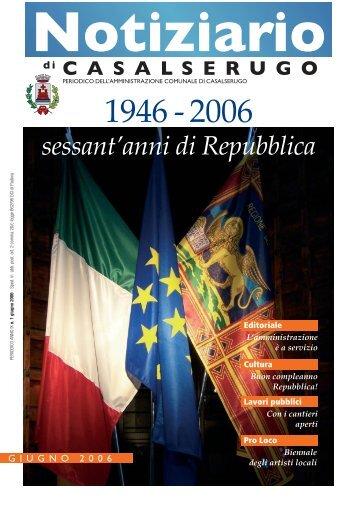 GIUGNO 2006 - Comune di Casalserugo