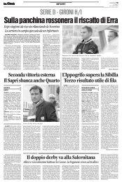 19/11/2007 Campionato 13a Giornata: Girone H - serie d news