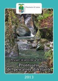 Prontuario del pescatore dilettante - Provincia di Lecco