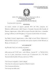 contro nei confronti di per la riforma - Il diritto amministrativo
