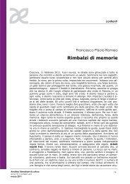 Rimbalzi di memorie - Amaltea