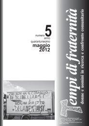 maggio 2012 - Tempi di Fraternità