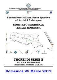 Regolamento Trofeo Regionale Inglese 2012 - Match Fishing Italia