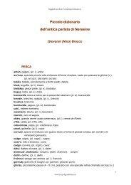 Piccolo dizionario dell'antica parlata di Neresine - Arcipelago Adriatico