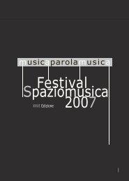 Booklet Festival 2007 - Spaziomusica