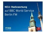Warum Radiowerbung in der BBC? - media sales & services GmbH