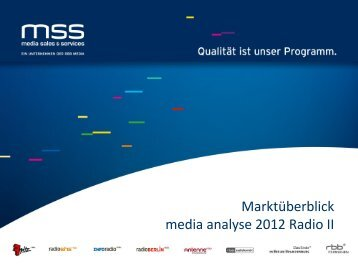 Fritz Standardpräsentation - media sales & services GmbH