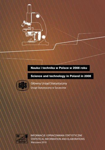 Nauka i technika w Polsce w 2008 roku - Główny Urząd Statystyczny