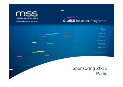 Angebote Radio - media sales & services GmbH