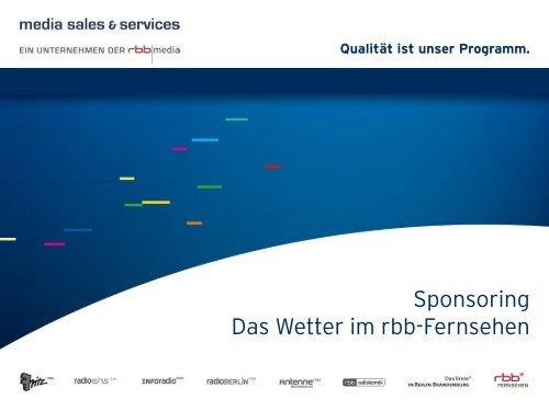 Qualität ist unser Programm. - media sales & services GmbH