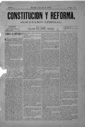 CÜNSÏIÏIJCIIIN Y REFÜRMA. - Biblioteca Virtual de Yucatán