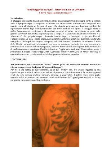 """""""Il tatuaggio in carcere"""", intervista a un ex detenuto di ... - Ristretti.it"""