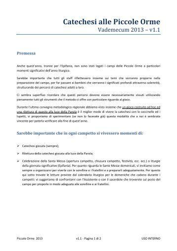 Vademecum Catechesi PO 2013.pdf - AGESCI lazio