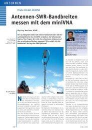 Antennen-SWR-Bandbreiten messen mit dem miniVNA
