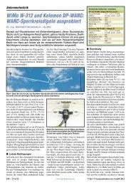 WiMo W-312 und Kelemen DP-WARC: WARC-Sperrkreisdipole ...