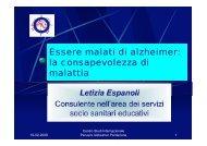 Essere malati di alzheimer: la consapevolezza di malattia - Azienda ...