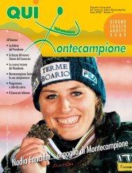qui montecampione n° 2 giugno - luglio - agosto 2009 - Consorzio di ...