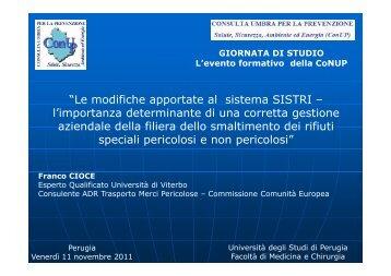 modifiche apportate al sistema SISTRI – l'importanza - ConUP ...