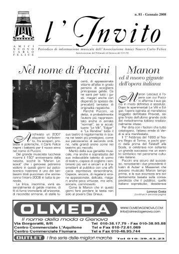 """""""L'Invito"""" gennaio 2008 1916 Kb - Associazione Amici del Carlo ..."""