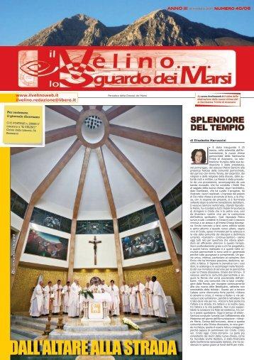 Il Velino, lo Sguardo dei Marsi Anno III, numero 40/06 del 31 marzo ...