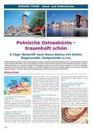 Polnische Ostseeküste - traumhaft schön 8-Tage-Reise/HP nach ...