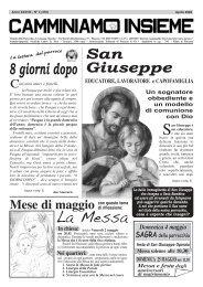 La Messa - Parrocchia di San Giuseppe Operaio