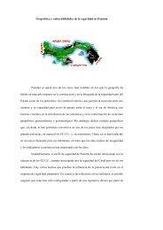 Geopolítica y vulnerabilidades de la seguridad en Panamá Panamá ...