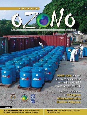 Boletín Ozono No.19 - Ministerio de Ambiente, Vivienda y Desarrollo ...