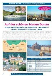 Auf der schönen blauen Donau - Werner Tours
