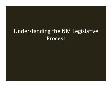 Legislative Training Presentation - New Mexico Land Grant Council