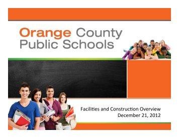 Design ConsideraNons - Orange County Public Schools