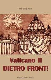 Vaticano II DIETRO FRONT! - Chiesa viva