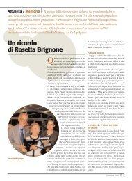 Un ricordo di Rosetta Brignone - Ipasvi
