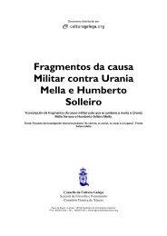 Fragmentos da causa Militar contra Urania ... - Culturagalega.org