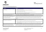 FAQ per la nuova offerta Online Backup Professionale - Swisscom