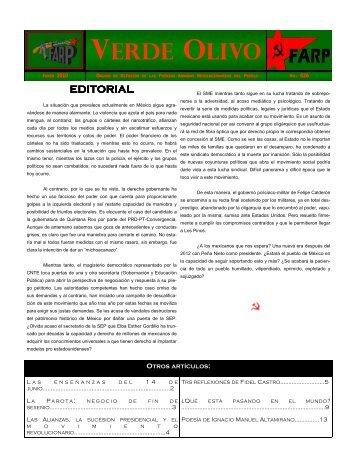 verde olivo - Centro de Documentación de los Movimientos Armados