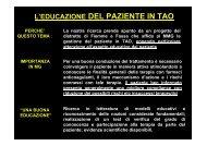 L'EDUCAZIONE DEL PAZIENTE IN TAO - Istituto Formazione ...