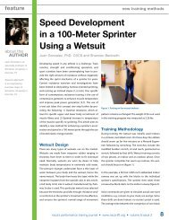 Speed Development in a 100-Meter Sprinter Using a Wetsuit