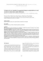 revisione sistematica della letteratura - Società Italiana di Ortodonzia