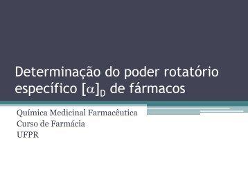 Determinação do poder rotatório específico [a]D de fármacos - people